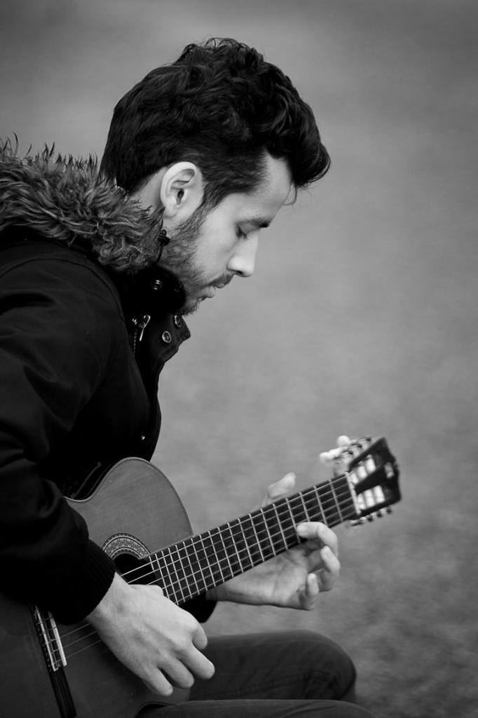 Sa passion la guitare